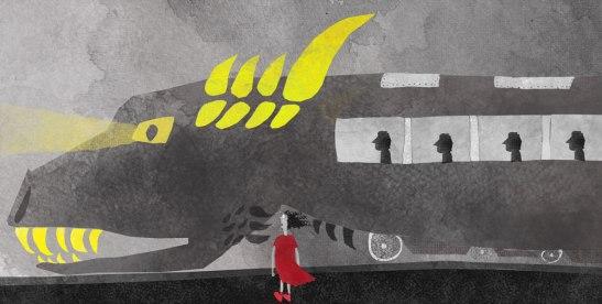 Illustration of the imagination train