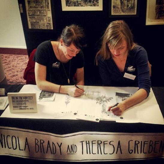 Theresa and me drawing